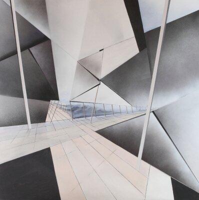 Fototapet abstrakta målningar