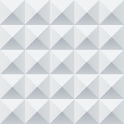 Fototapet Abstrakta vit och grå geometriska torg seamless