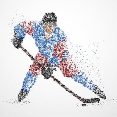 Fototapet abstraktion, hockey, is, puck