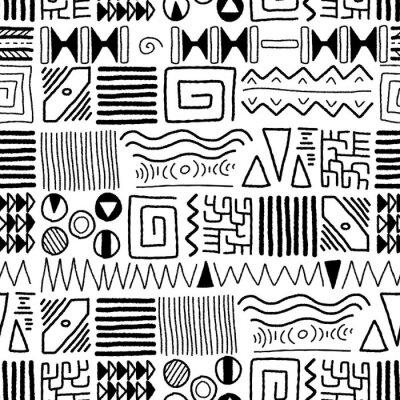 Fototapet afrikansk mönster