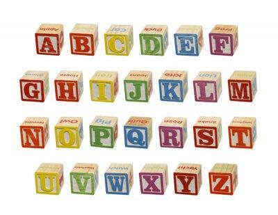 Fototapet alfabet Blocks