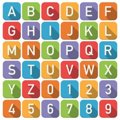 Fototapet alfabet ikoner