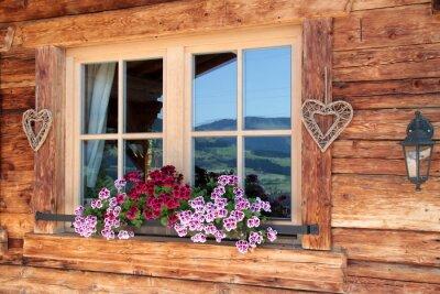 Fototapet Alperna i fönstret