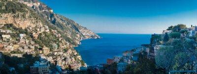 Fototapet Amalfikusten mellan Neapel och Salerno. Italien