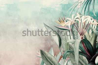 Fototapet Amazon Green Tropical Leaves Wallpaper