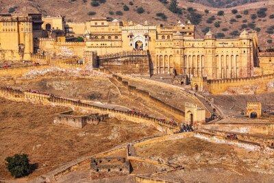 Fototapet Amer Amber fort, Rajasthan, Indien
