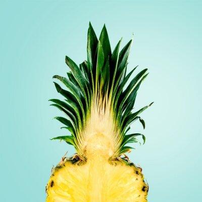Fototapet Ananas, frukt, isolerat.