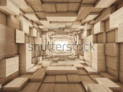 Fototapet änden av tunneln