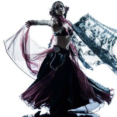 Fototapet arabiska kvinna magdansös dans