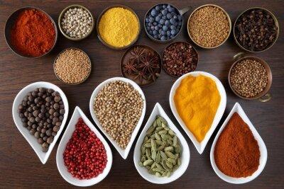 Fototapet Aromatiska kryddor.