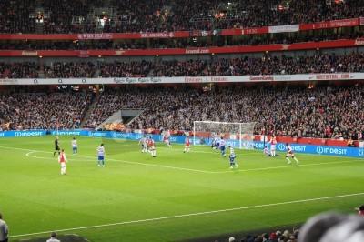 Fototapet Arsenal vinnande 1-0 mot drottning Park Rangers