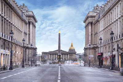 Fototapet Assemblée nationale et Place de la Concorde