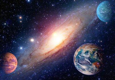 Fototapet Astrologi astronomi jord rymden solsystem mars planet Vintergatan. Delar av denna bild som tillhandahålls av NASA.