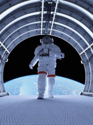 Fototapet Astronaut i tunnlarna