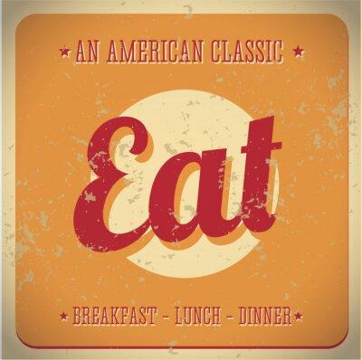 Fototapet Ät Vintage tecken. All American classic