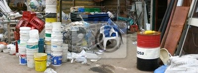 Fototapet återvinning i Latinamerika