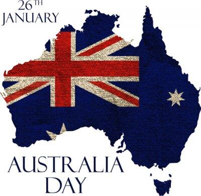 Fototapet Australien dag affisch
