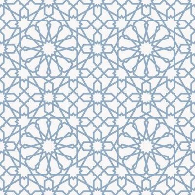 Fototapet Bakgrund med sömlös mönster i islamiska stil