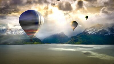 Fototapet ballongflygning