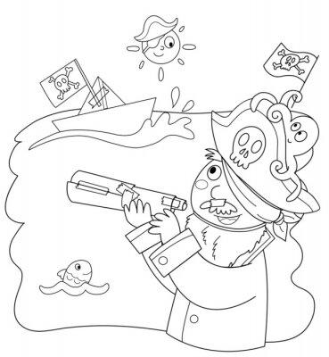 Fototapet Bambino vestito da pirata