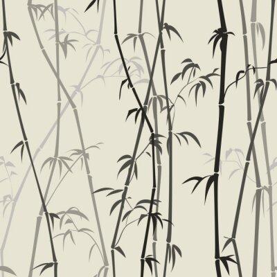 Fototapet bambu bakgrund