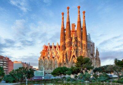 Fototapet Barcelona - 10 februari: La Sagrada Familia - Impress