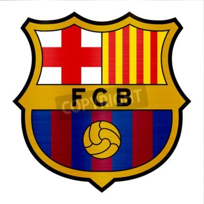 Fototapet barcelona metallic logo illustration