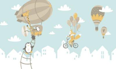Fototapet Barn grafisk illustration. Används för utskrift på väggen, kudde, dekoration barn inredning, baby kläder och skjortor, gratulationskort, vektor och andra