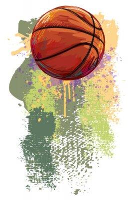 Fototapet Basket Banner. Alla delar är i separata lager och grupperas.