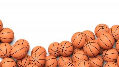 Fototapet Basket bollar isolerade på vit bakgrund