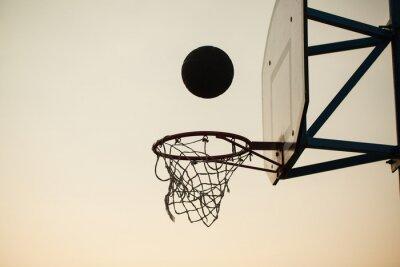 Fototapet basket över ringen
