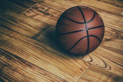 Fototapet Basket på Hardwood en