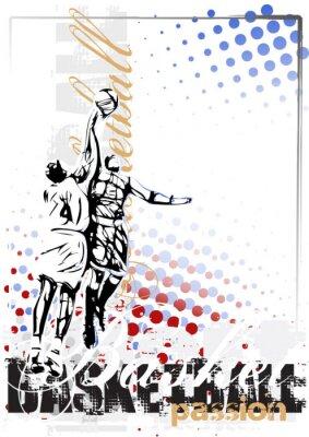 Fototapet basket vektor affisch bakgrund