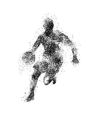 Fototapet basketspelare, silhuett