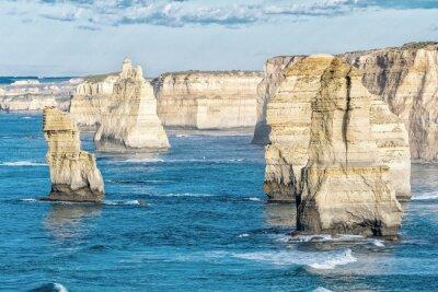 Fototapet Bedövning Flygfoto över tolv apostlarnas Victoria - Australien