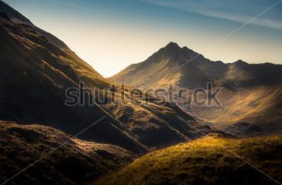 Fototapet Berg i Highland, Skottland