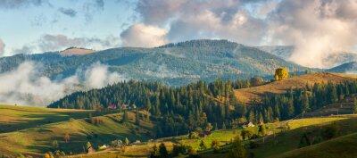 Fototapet Berg i molnen