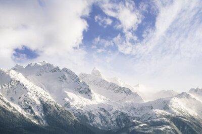 Fototapet Berg och moln