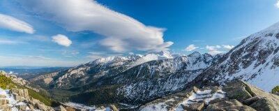 Fototapet Bergtatra häxa vackra moln