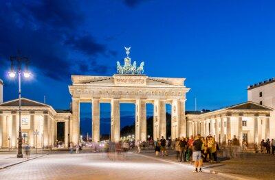 Fototapet Berlin - 4 Augusti 2013: Brandenburger Tor den 4 augusti i Tyskland