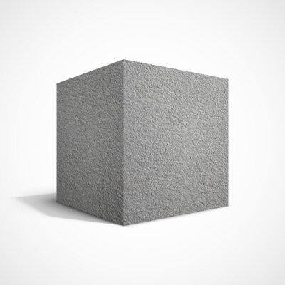 Fototapet betong kub