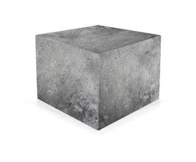 Fototapet Betong kub isolerat