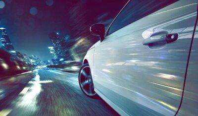 Fototapet Bil på natten