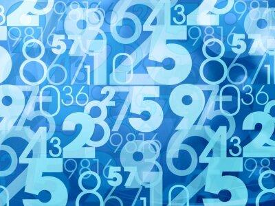 Fototapet blå abstrakta siffror