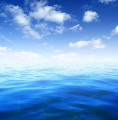 Fototapet Blå havsvatten