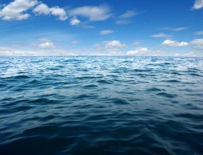 Fototapet Blå havsvatten yta