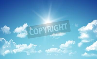Fototapet Blå himmel