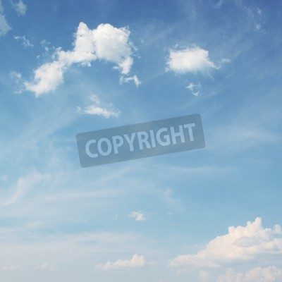 Fototapet Blå himmel med vita molnbakgrund