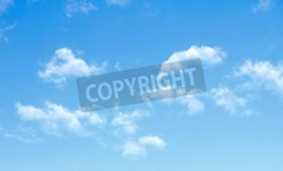 Fototapet blå himmel moln