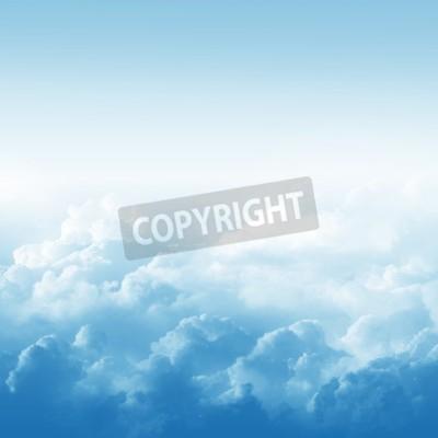 Fototapet Blå himmel och moln abstrakt illustration